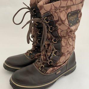 COACH women's snow boots SZ 7.5